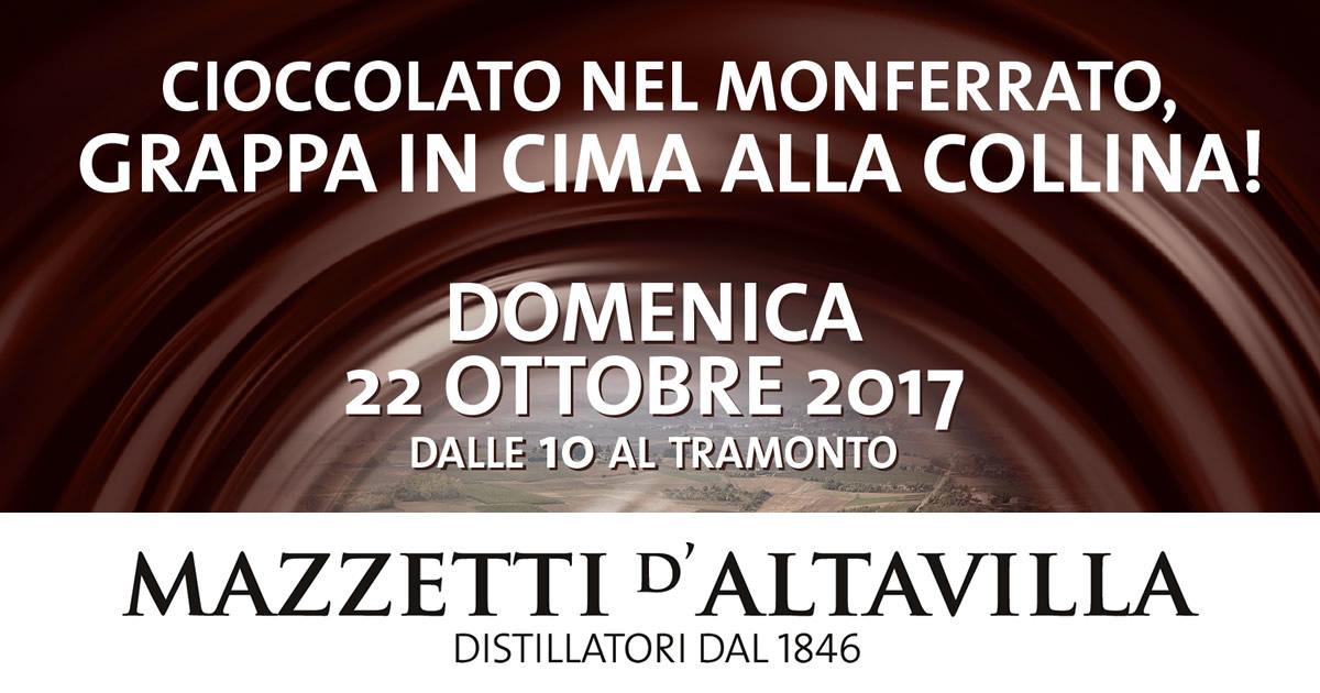 """Alla distilleria mazzetti d'altavilla """"Cioccolato e grappa in cima alla collina""""."""