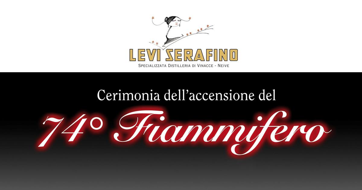 Alla distilleria Levi Serafino l'accensione del 74° fiammifero.