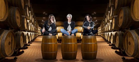Da sinistra Chiara, Silvia ed Elisa Belvedere Mazzetti.