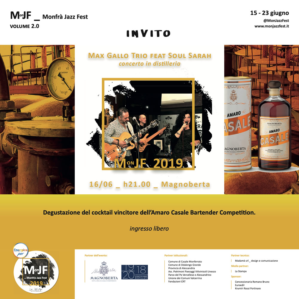Concerto in distilleria alla Magnoberta.
