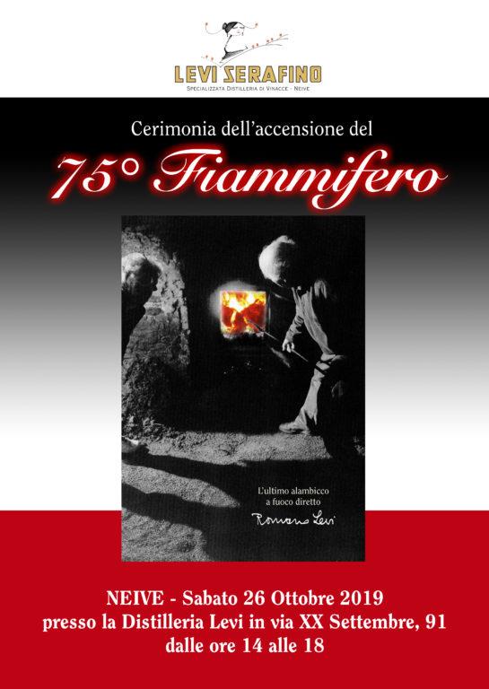 L'annuale accensione del Fiammifero alla distilleria Romano Levi di Neive.
